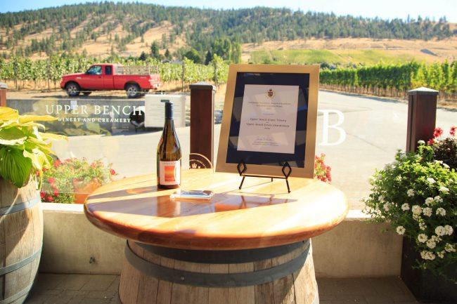 Upper Bench Estate Winery, Penticton. Winning Wine: Upper Bench Estate Chardonnay 2015