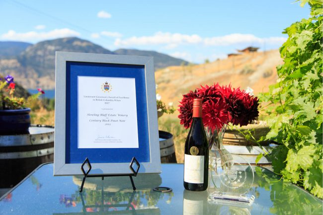 Howling Bluff Estate Winery, Penticton Winning Wine: Century Block Pinot Noir 2013