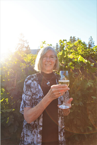 """Lieutenant Governor Judith Guichon raises a glass of """"The One,"""" Sparkling 2012, the award-winning wine from Noble Ridge Vineyard and Winery in Oakanagan Falls."""