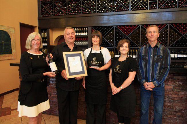 Cassini Cellars, Oliver. Winning Wines: The Aristocrat, Cabernet Sauvignon 2013, and Nobilus, Merlot Collector's Series 2013.