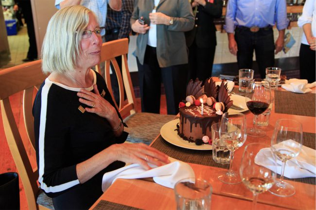 A special birthday cake for Lieutenant Governor Judith Guichon.