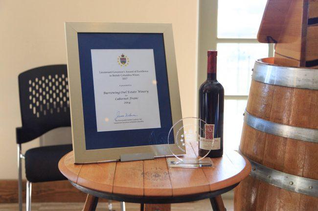 Burrowing Owl Estate Winery, Oliver. Winning wine: Cabernet Franc 2014