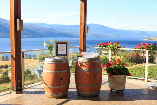 Gray Monk Estate Winery, Lake Country. Wine: Odyssey White Brut 2014