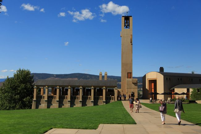 Mission Hill Winery in West Kelowna hosted a lunch and a tour of its winemaking facilities.